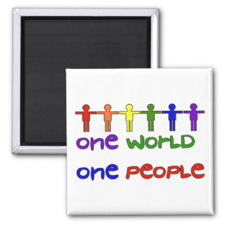 One People 2 Inch Square Magnet