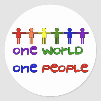 One People Classic Round Sticker
