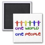 One People Fridge Magnet