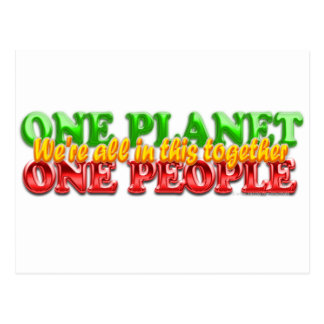 One People One Planet Postcard