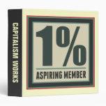 One Percent Aspiring Member Binders