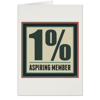 One Percent Aspiring Member Card