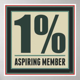 One Percent Aspiring Member Poster