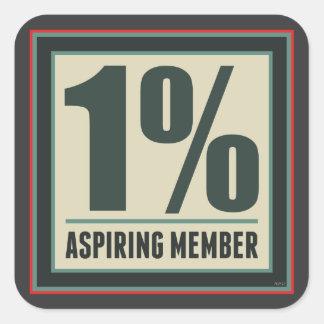 One Percent Aspiring Member Square Sticker