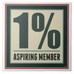 One Percent Aspiring Member Tiles