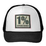 One Percent Aspiring Member Trucker Hats