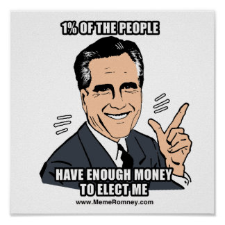 ONE PERCENT OF THE PEOPLE HAVE ENOUGH MONEY PRINT