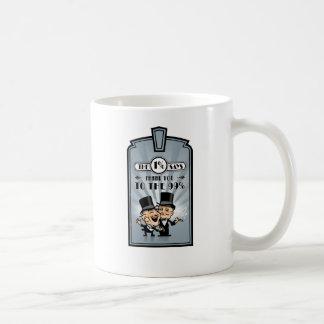 one percent says thank you to one percent classic white coffee mug