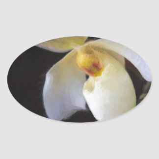 One Perfect Lady Slipper Oval Sticker