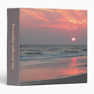 One Perfect Sunset - Oak Island, NC Vinyl Binder