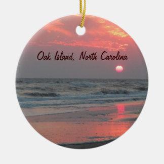One Perfect Sunset - Oak Island, NC Ceramic Ornament