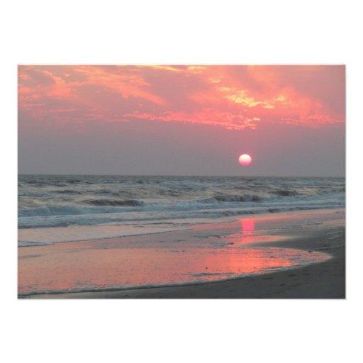 One Perfect Sunset - Oak Island, NC Custom Invitation