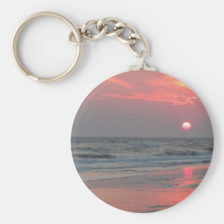 One Perfect Sunset - Oak Island, NC Keychain