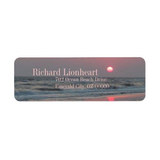 One Perfect Sunset - Oak Island, NC Label