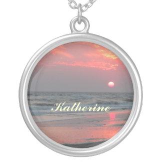 One Perfect Sunset - Oak Island, NC Pendants