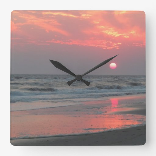 One Perfect Sunset Square Wall Clocks