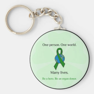 One Person. Many Lives. Basic Round Button Keychain