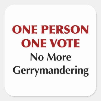 One Person One Vote, No More Gerrymandering Square Sticker