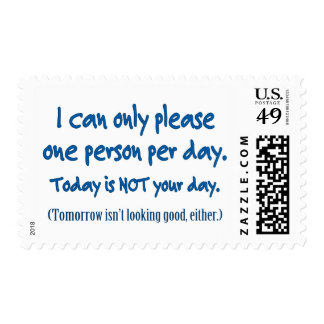 One Person Per Day Postage