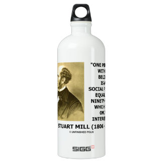 One Person With A Belief Social Power Mill Quote Aluminum Water Bottle