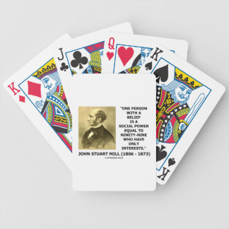 One Person With A Belief Social Power Mill Quote Bicycle Playing Cards