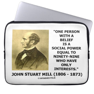One Person With A Belief Social Power Mill Quote Laptop Sleeve