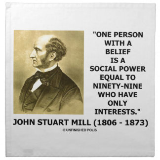 One Person With A Belief Social Power Mill Quote Napkin