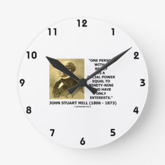 One Person With A Belief Social Power Mill Quote Round Clock