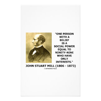 One Person With A Belief Social Power Mill Quote Stationery