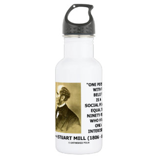 One Person With A Belief Social Power Mill Quote Water Bottle