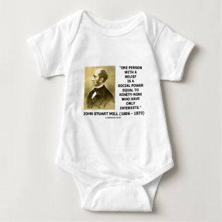 One Person With A Belief Social Power Quote Baby Bodysuit