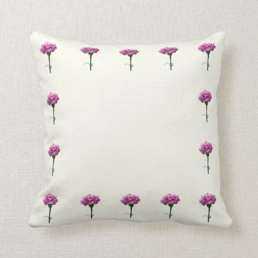 One Pink Carnation Pillows