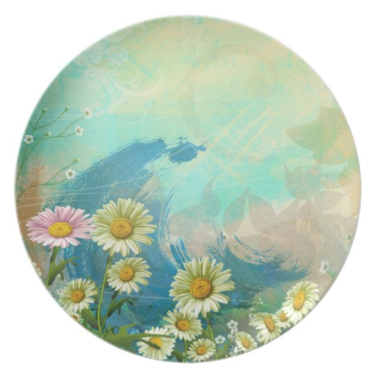 One Pink Daisy Decorative Plate