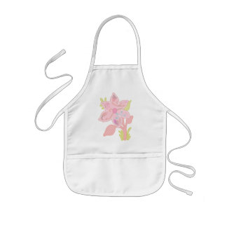 ONE pink flower Kids' Apron