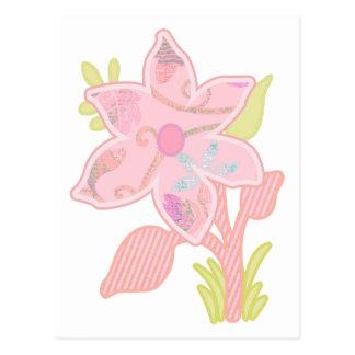 ONE pink flower Postcard