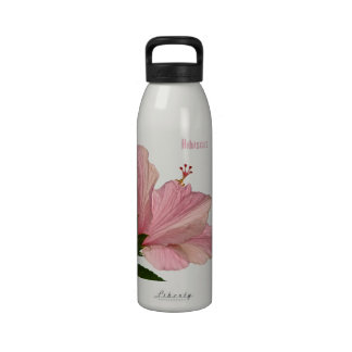 One Pink Hibiscus Liberty Bottle Drinking Bottle