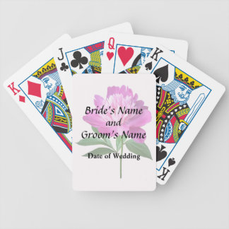 One Pink Peony Wedding Products Bicycle Playing Cards