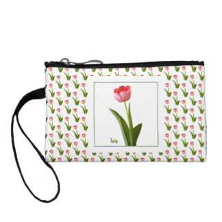One Pink Spring Tulip Nature Floral Photo Coin Wallet