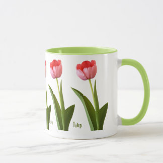 One Pink Spring Tulip Nature Floral Photo Mug