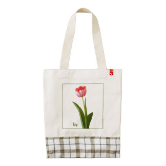 One Pink Spring Tulip Nature Floral Photo Zazzle HEART Tote Bag