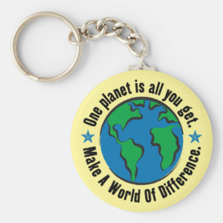 One Planet Is All You Get Keychain
