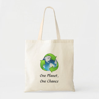One Planet, One Chance Canvas Bag