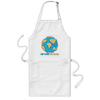 One planet, One Choice Long Apron