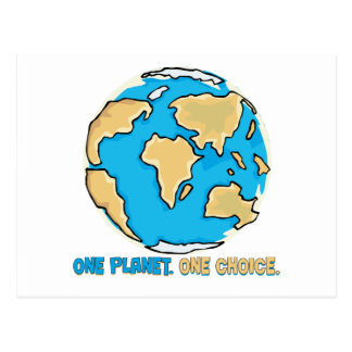 One planet, One Choice Postcard