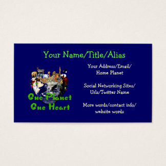 One Planet One Heart Business Card