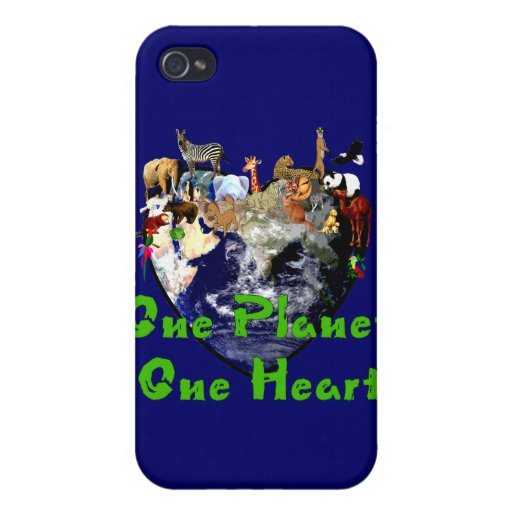 One Planet One Heart Cover For iPhone 4