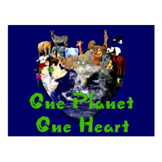 One Planet One Heart Postcard