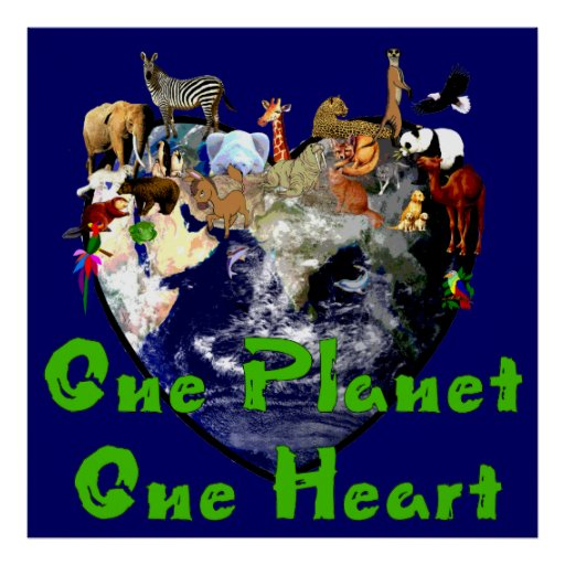 One Planet One Heart Print