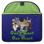One Planet One Heart Sleeves For MacBook Pro