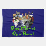 One Planet One Heart Towels